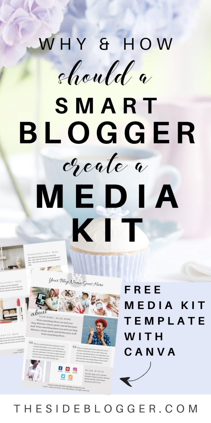 In this blog post I talk about how and why all bloggers should have a media kit ready from day-1   The Side blogger #mediakit #design #blogger #blogging #marketing #onlinebusiness #canva