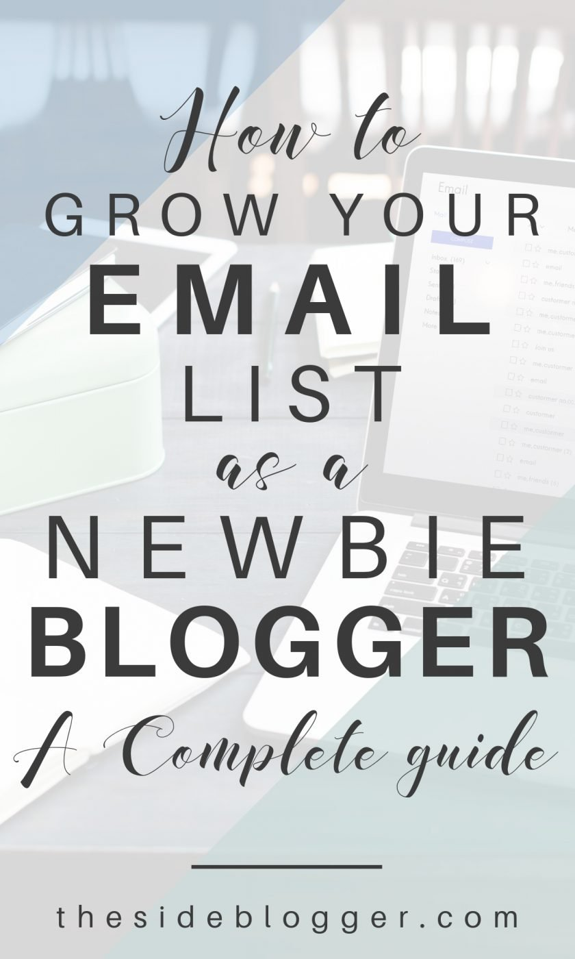 Ever wonder how other bloggers and small business owners grow their email list? Demystifying the email list mystery in this blog post, one step at a time   The Side Blogger #EmailList #Newsletter #Email #Blogging #Blogger #EmailMarketing #Marketing #mailinglist #newslettersignup #newslettersubscriber #subscriber