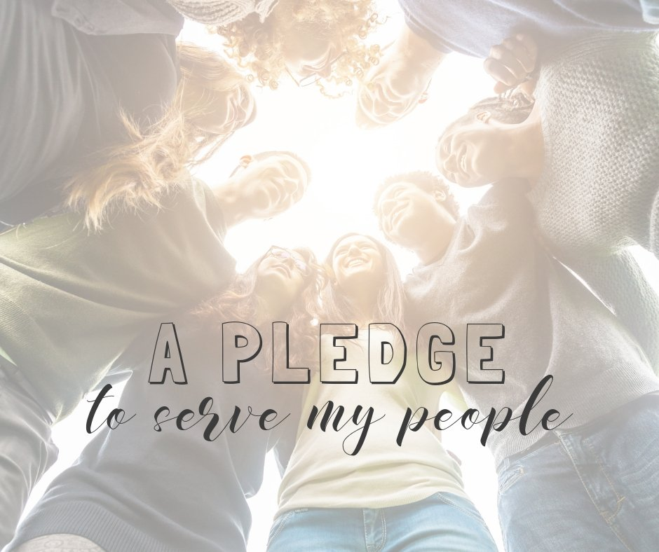 A pledge to serve my people through this blog.