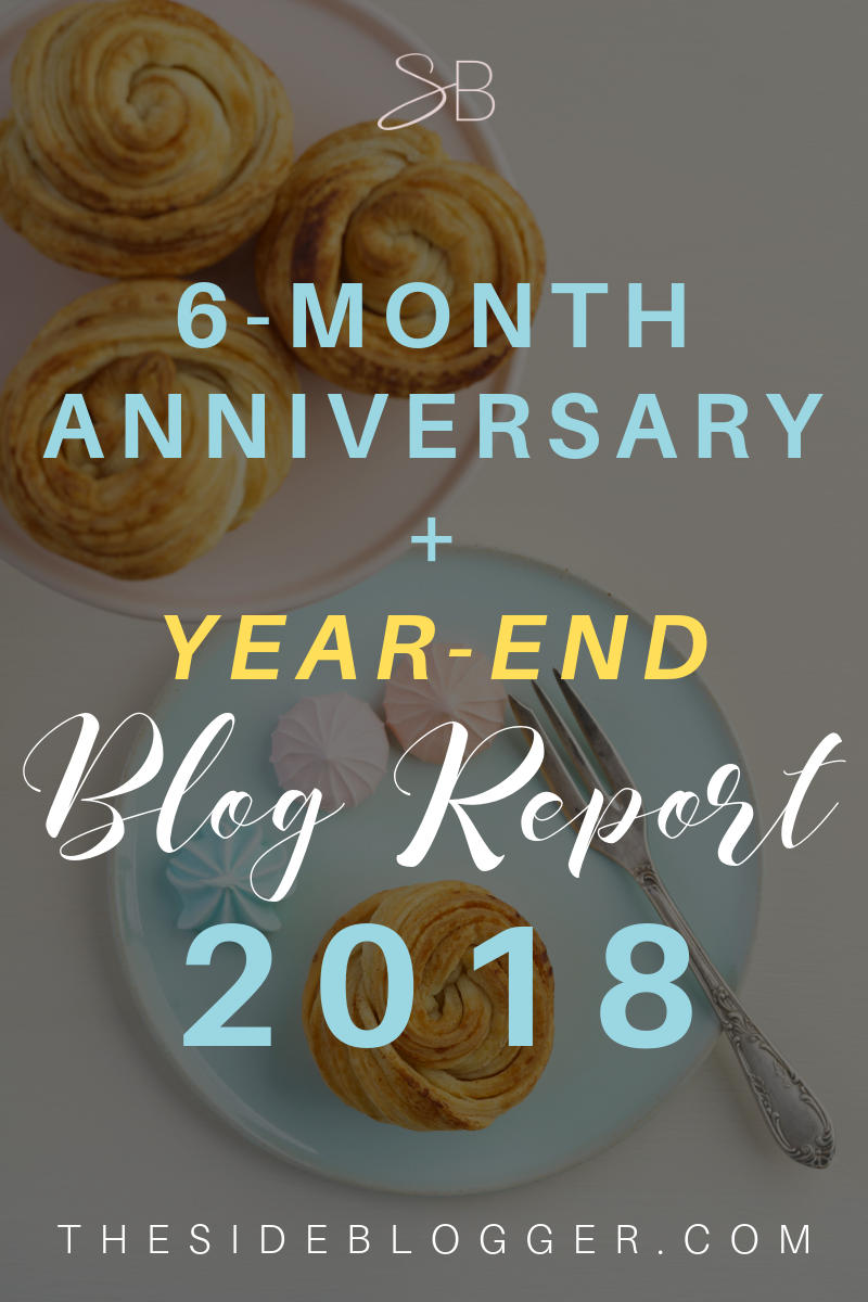 Year end blog-report for The Side Blogger, 6 months in. The ups, the downs, income report, and goals for The Side Blogger's future going into 2019.