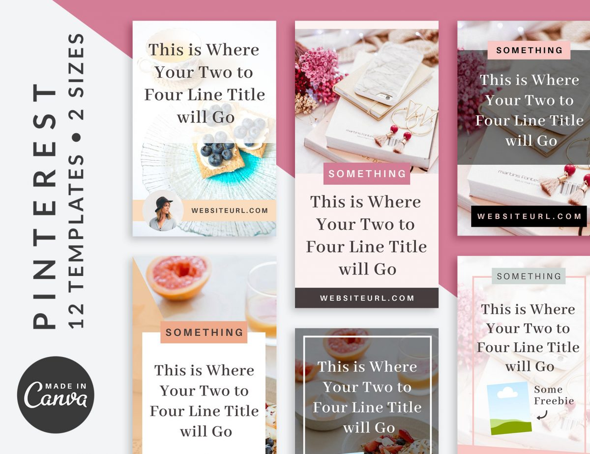 Pinterest Graphics Canva Templates | Bloom | The Side Blogger