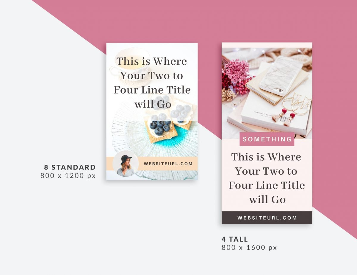 12 Canva templates for Pinterest in two sizes. perfect for driving traffic to your blog and business websites | The Side Blogger