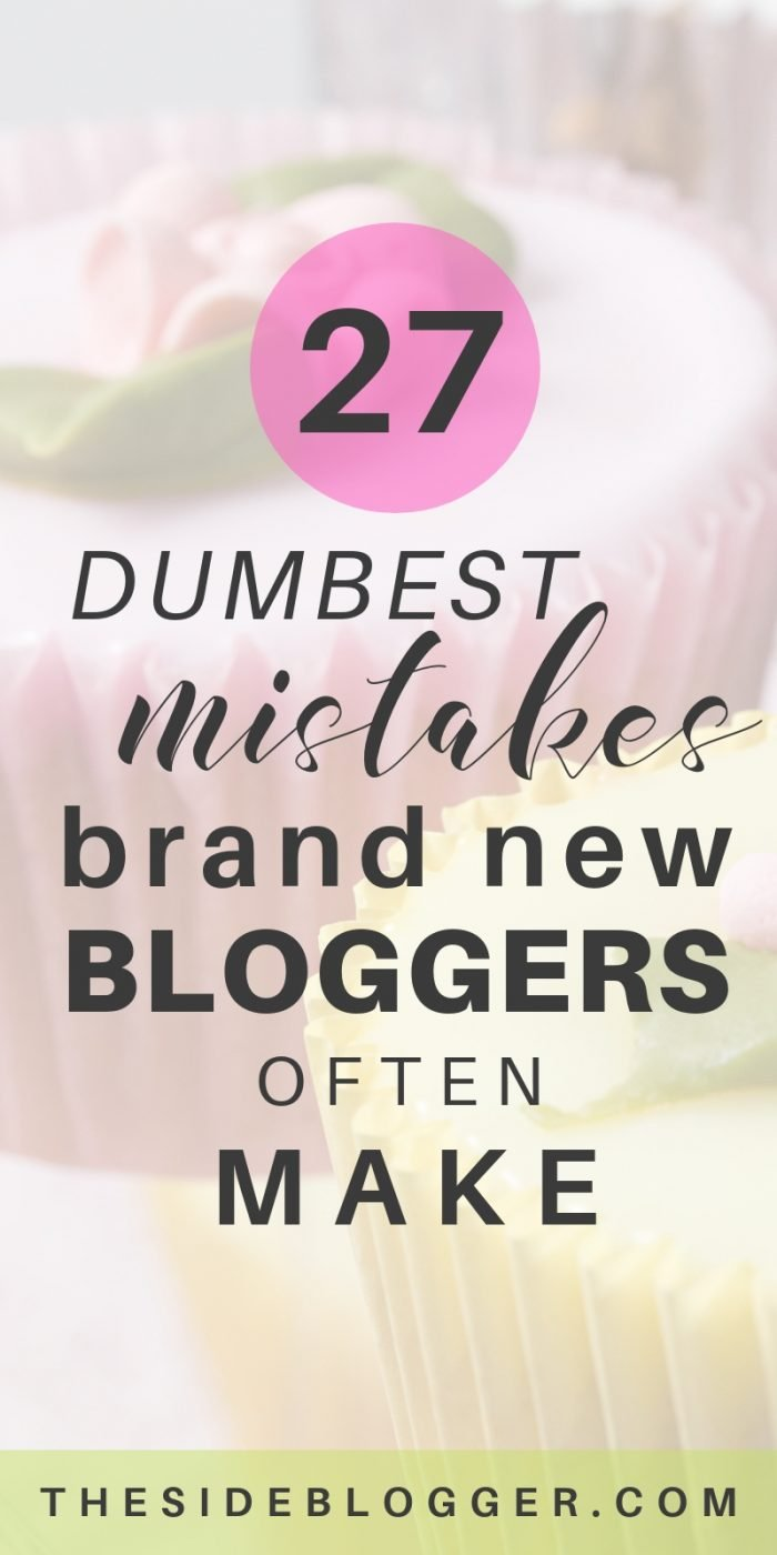 A list of 27 dumbest mistakes that make a new blogger look like an incompetent fool, drive eaders away, and set the blogger in the course of failure.