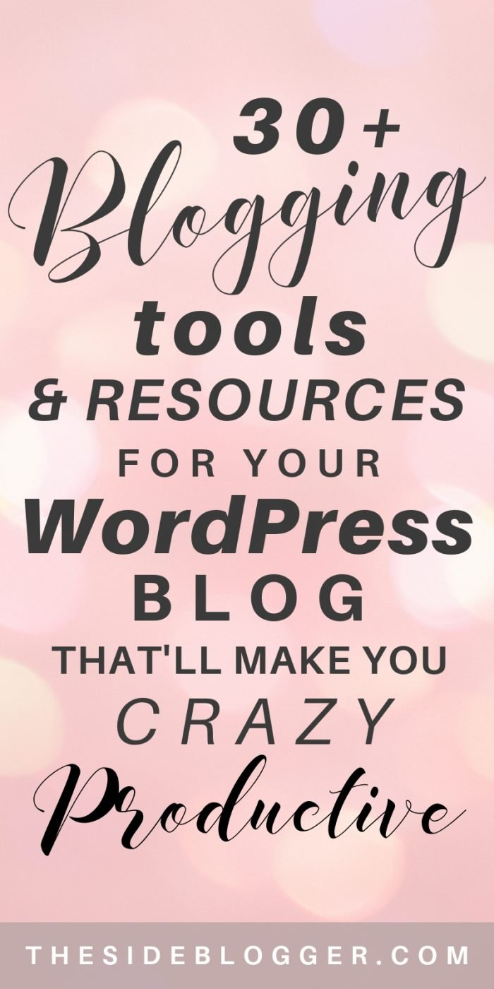 A list of 30+ blogging tools and resources to make a blogger grow and be more productive   The Side Blogger #blog #blogging #blogger #bloggingresources #blogresources #blogtools #bloggingtools