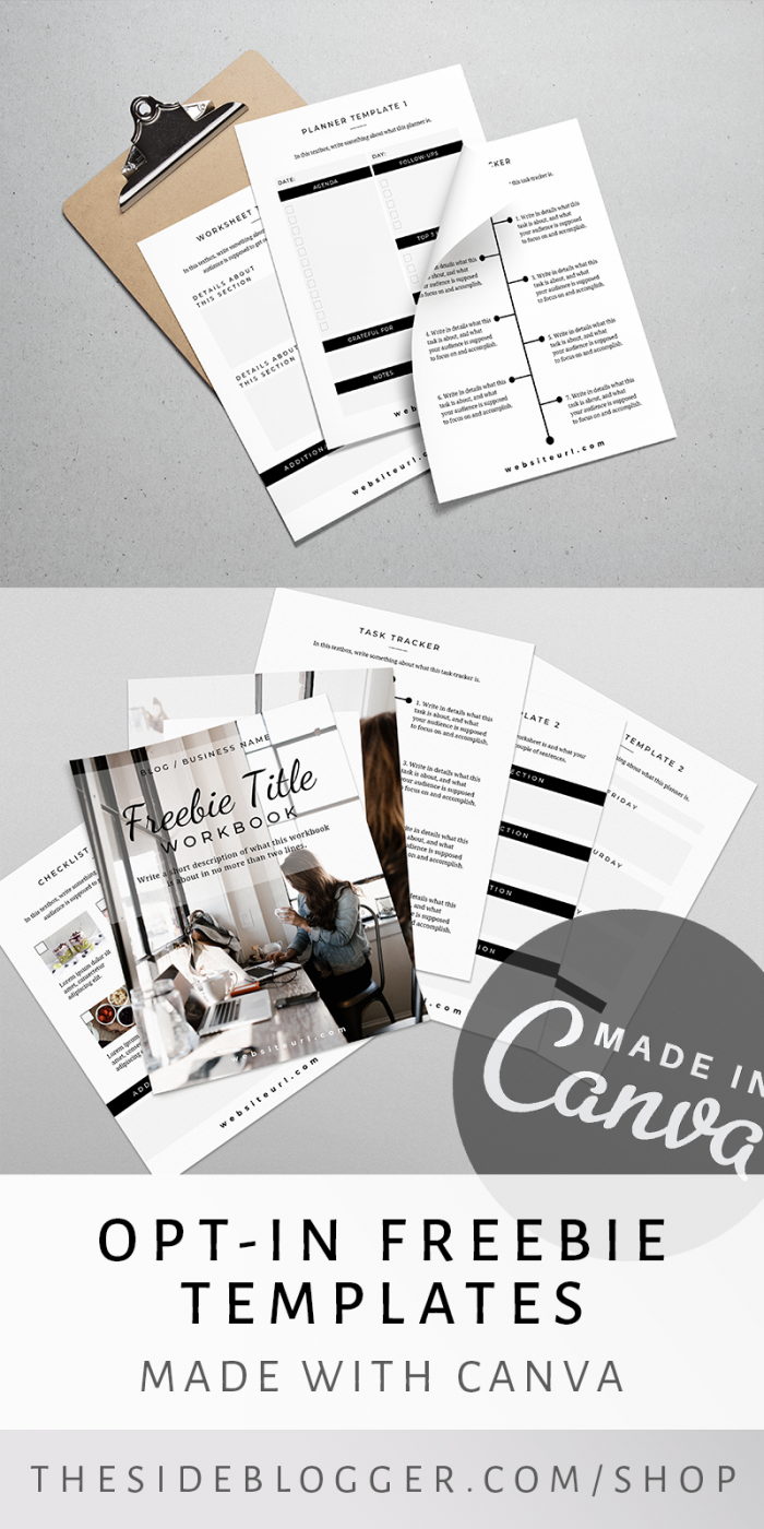 Mirin - A Set of templates that you can use as lead magnets, made in Canva. Fully customizable, and thoughtfully designed to meet all your needs, and save you time | The Side Blogger