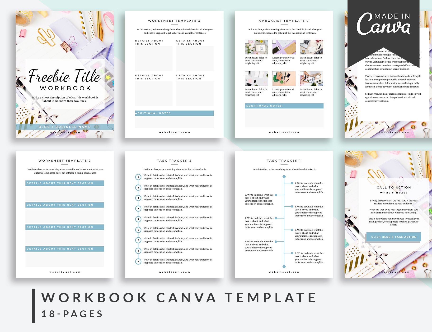 Workbook Canva Templates | Colfax | The Side Blogger