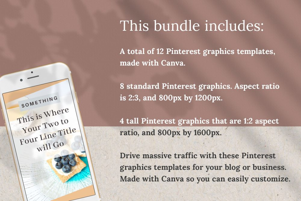 Pinterest Graphics Canva templates - Bloom