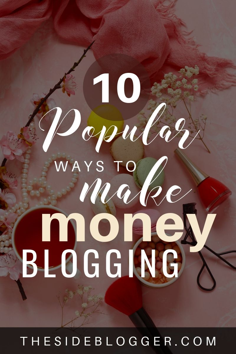 Discover 10 proven methods for making money with blogging. Earn $1000+ each month, just from your blog. #blogging #makemoneyblogging #makemoneyonline #bloggingforbeginners #bloggingtips #bloggingtipsforbeginners #bloggingresources