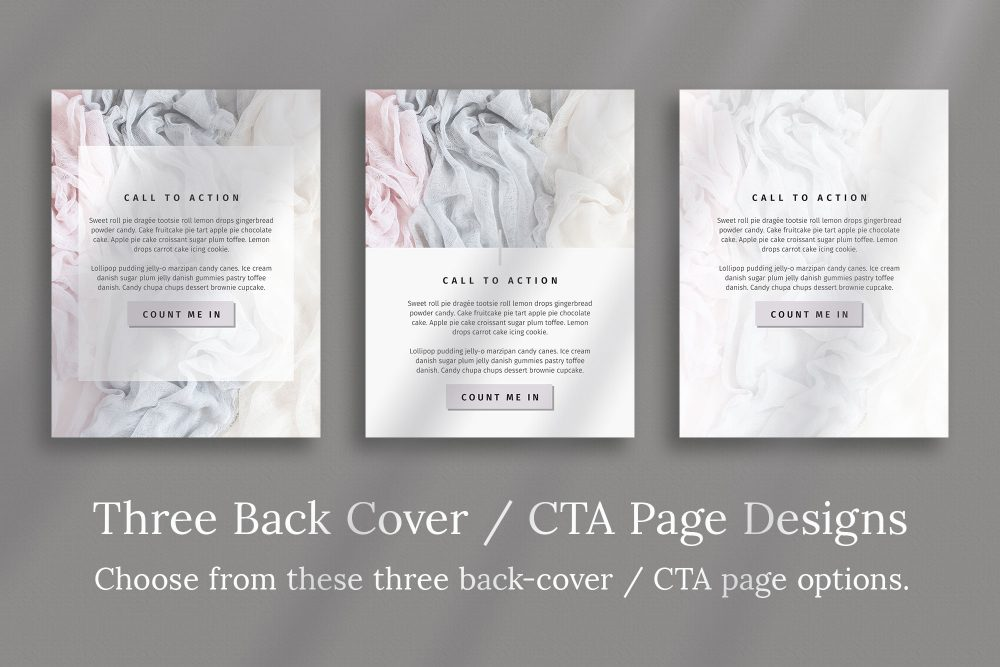 Workbook Canva Template - Silver