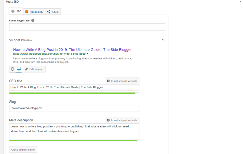 Use the Yoast SEO plugin to customize the post title and meta description.
