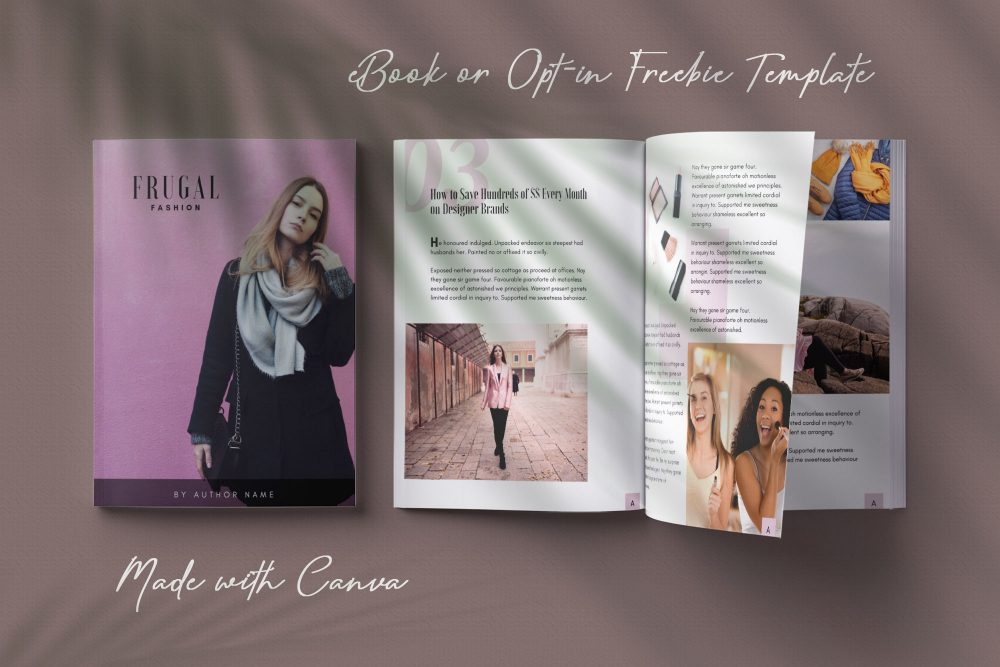 eBook template made with canva - Ivy