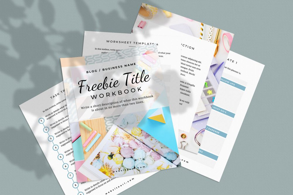 Workbook template made with Canva