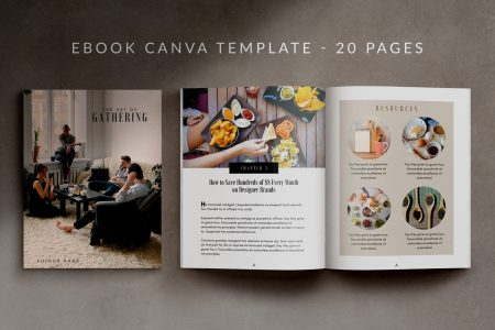 eBook Canva Template - 20 Pages - Gathering