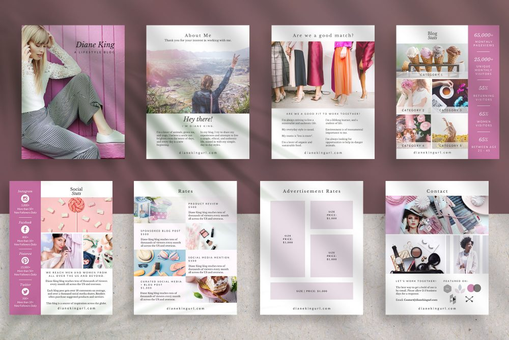 Media kit template with Canva - Ivy