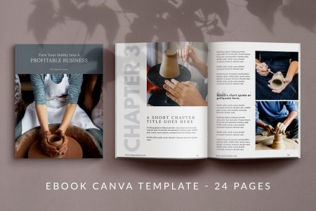 24 page eBook Canva template - Maker