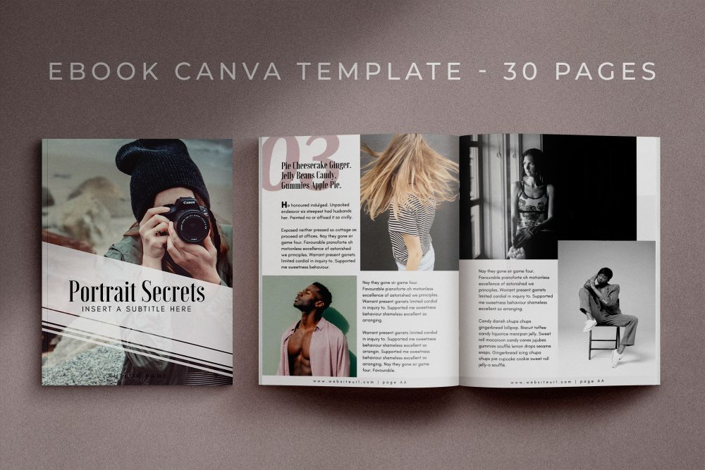 A 30-page eBook Canva template - Cotton