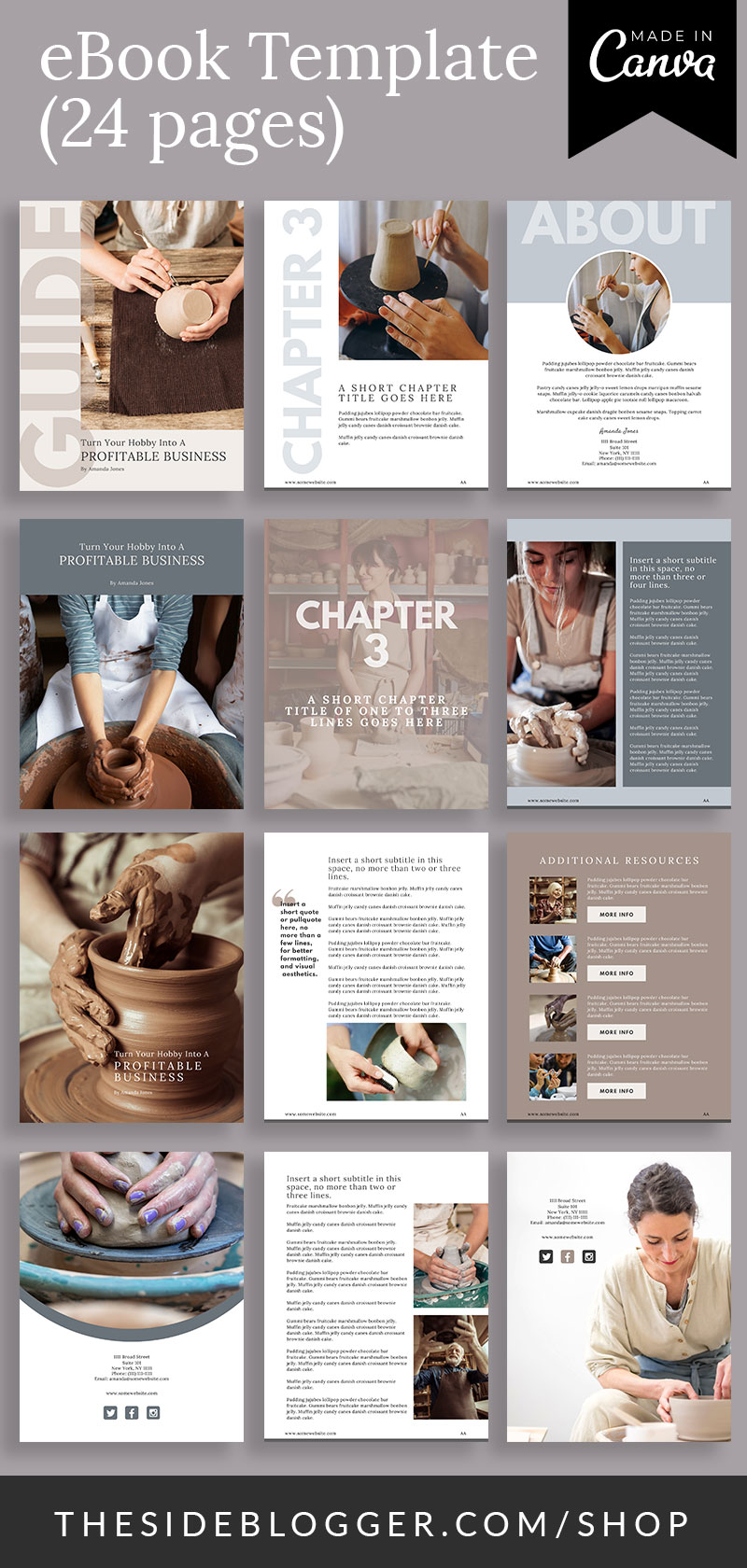 Pin graphic for eBook Canva Template - Maker