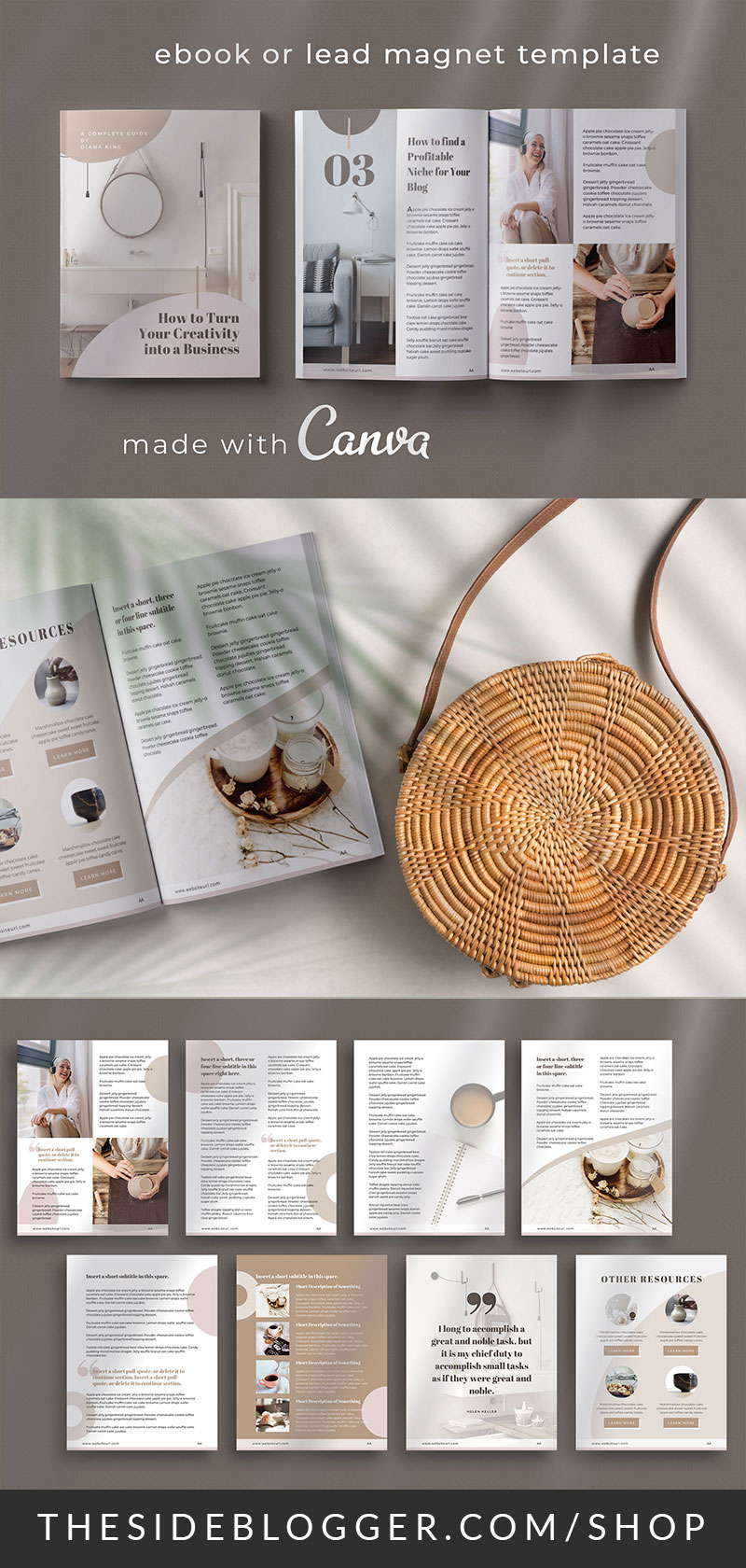 Pin graphic for eBook Canva Template - Nordic