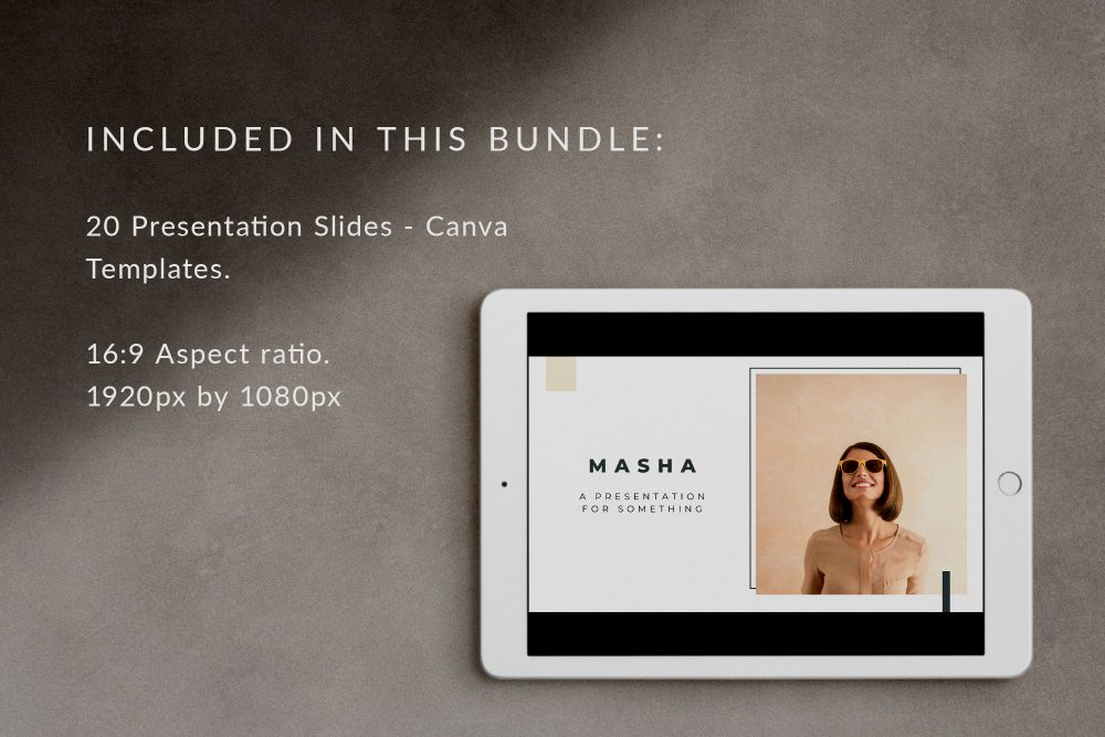 Presentation Slide Deck Canva Templates - Masha