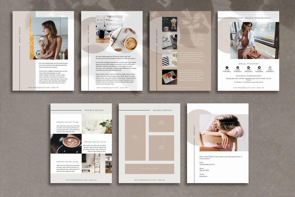 Abigail - Media kit template in Canva