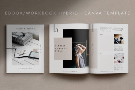 A 24-page eBook-Workbook Canva Template - Mio.