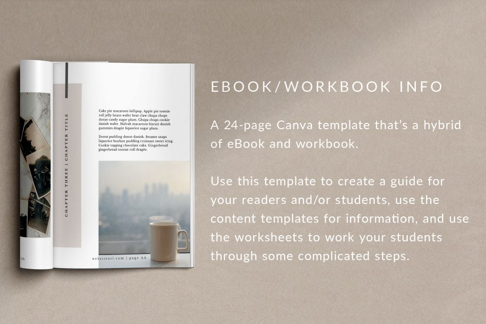 A 24-page eBook-Workbook Canva Template - Mio.