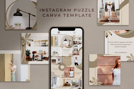 Instagram Puzzle Canva Template - Mink
