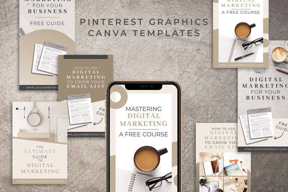 Pinterest Graphics Templates in Canva - 12 Unique Designs
