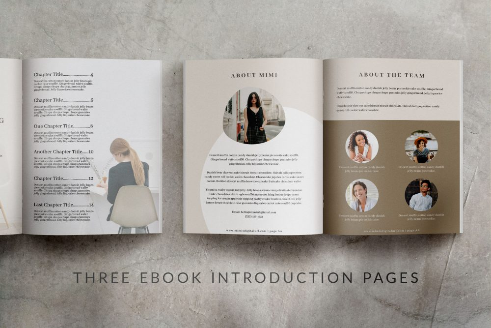 eBook Canva Template - Mink - 24 pages