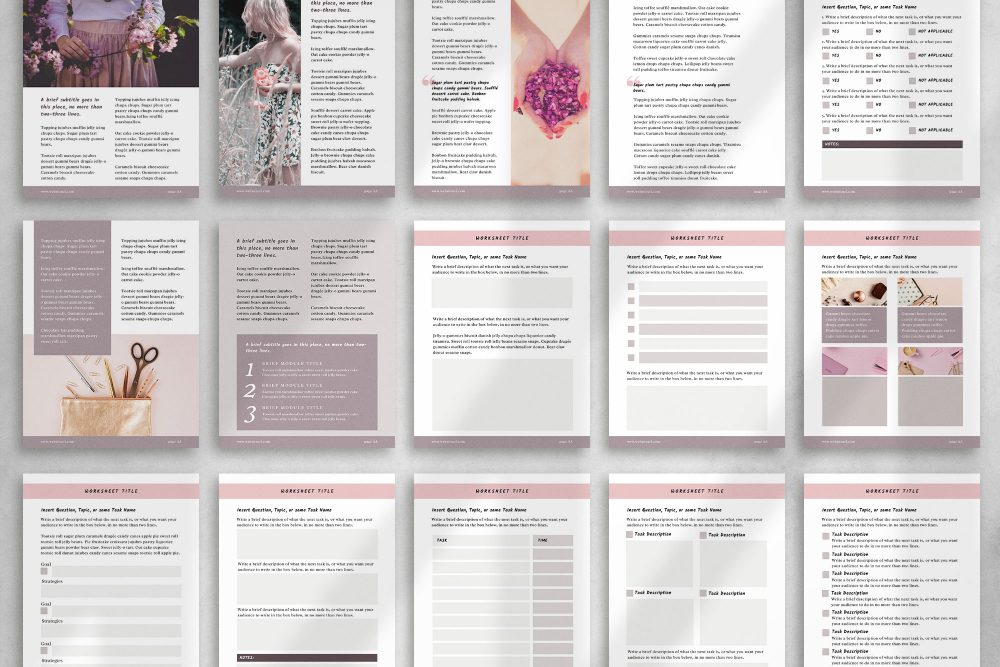 28 page eBook-workbook Canva Template - Sandy