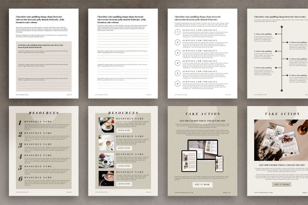 Maine - eBook-Workbook Canva Template for bloggers, content marketers and course creators.