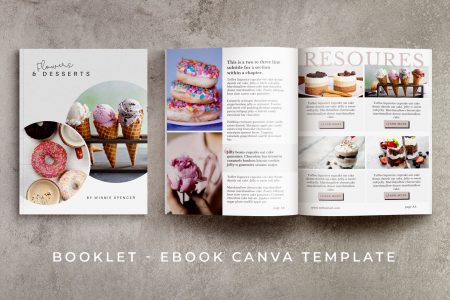Poppylan - a booklet / eBook Canva template (10-pages)