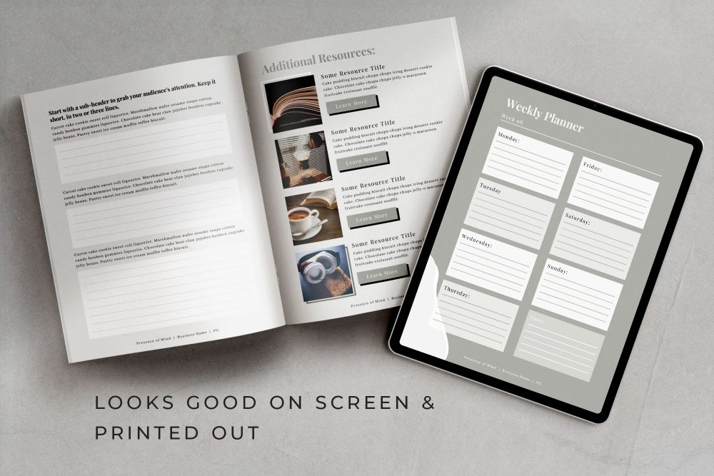 Workbook and eBook Hybrid Canva Template - Senses