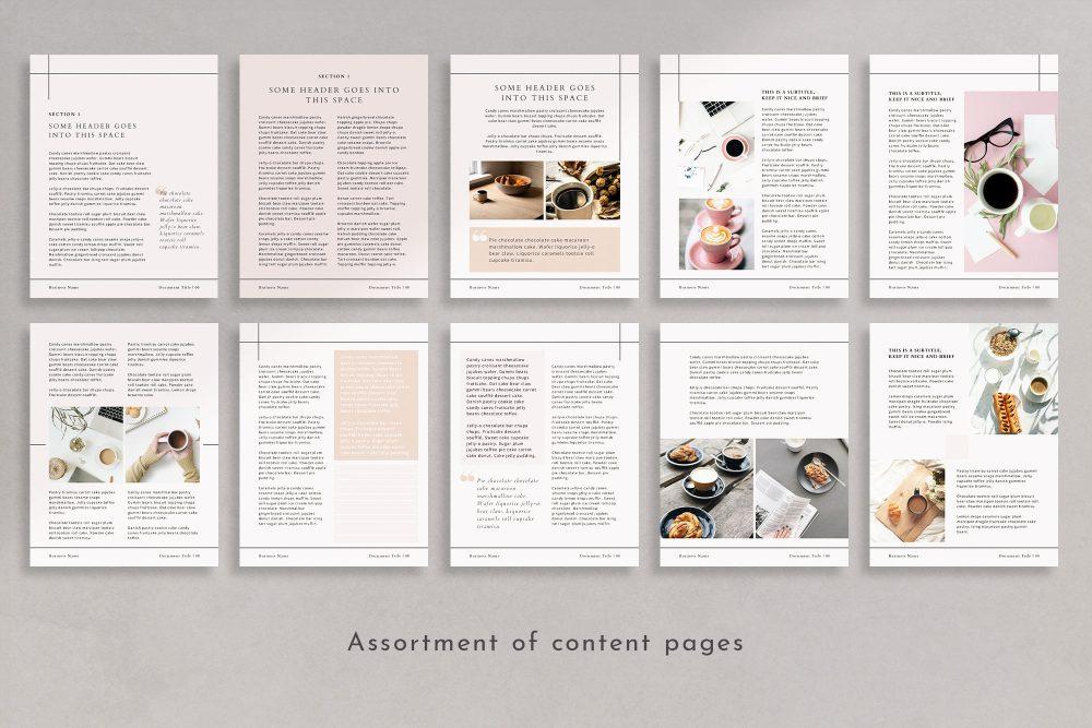 Workbook and eBook Canva Template - Paris