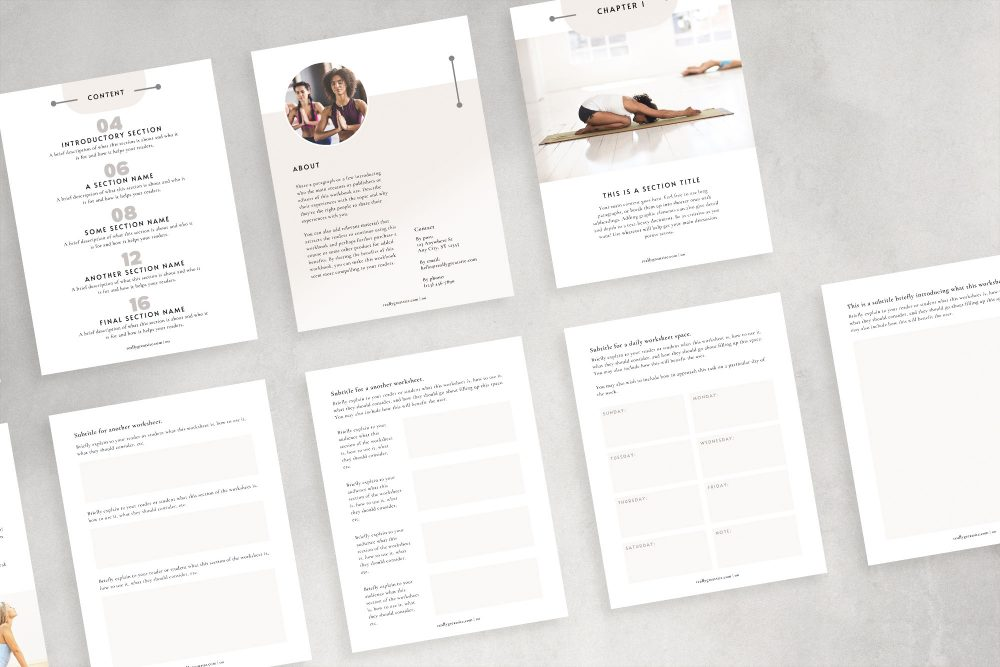 Merino - a mini workbook - lead magnet Canva template