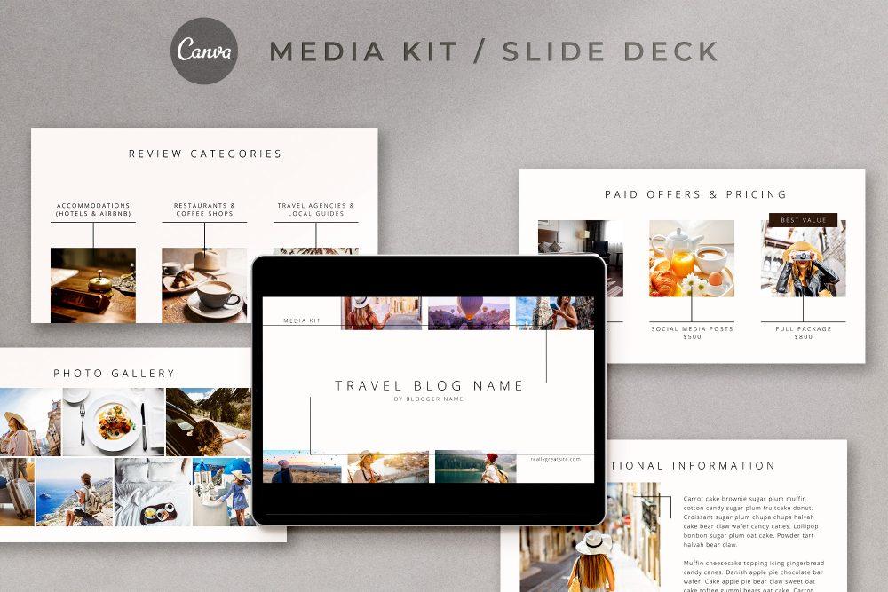 Media kit and slide deck Canva templates - Madras   The Side Blogger